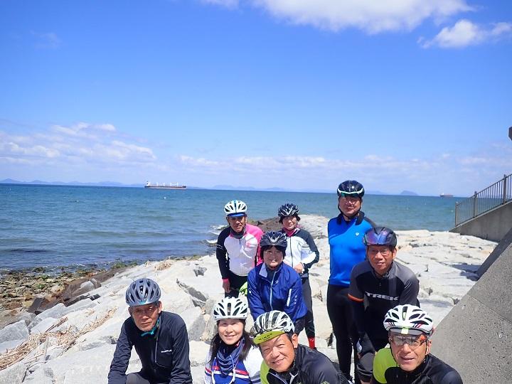 【Gentle Ride~55歳以上のクラブライド】4/27 新居浜へ。走りやすい道とサイクリングロードを繋いで・・ご褒美はヒット焼き。
