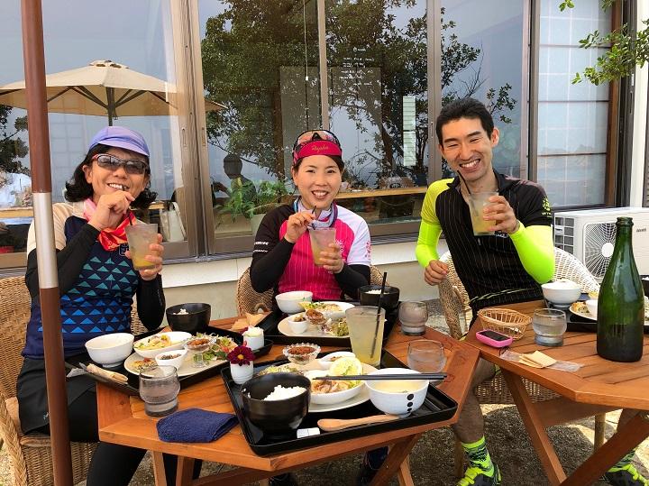 """水曜女性ライドメルクル・しまなみ海道大島でランチを食べた後は・・夏はやっぱり""""かき氷""""♪"""