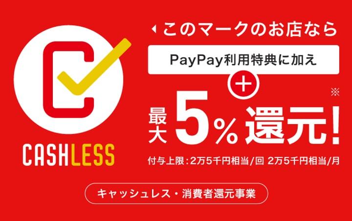 【キャッシュレス・消費者還元事業とプレミアム商品券について】Paypayも対応となりました。
